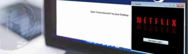 Falsa applicazione Netflix nasconde un ransomware malware
